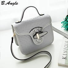High quality ostrich bling bling flap bag messenger bag women bag shoulder bag tote