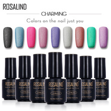 ROSALIND Black Bottle 7ML Matte Pure Color M01-24 Gel Nail Polish Nail Art Nail Gel Polish UV&LED Soak-Off Gel Frosted Surface