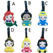 2017 New Fashion Suitcase Luggage Tags ID Address Holder Snow White Princess Mermaid Cinderella Luggage Label Travel Accessories(China)