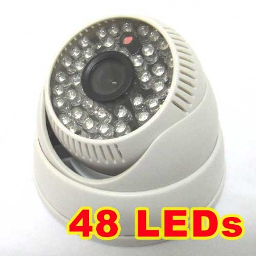 1/3 420TVL Sony CCD IR Color CCTV Dome Security Wide Angle Camera 48 LEDs Night Vision<br>