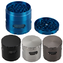 55mm Zinc Alloy Hand Crank Herb Mill Crusher Tobacco Smoke Grinder Spice Tobacco Pipes Grinder Smoking Accessories