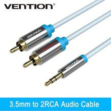 Vention Jack Rca Cable 2 Rca Male Cable 3.5MM to Rca Male Audio Stereo Rca Cable