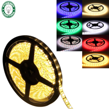 5050 RGB LED strip waterproof led color luz led rgb neon flex remote led strip light tape lamp warm white red blue green IC(China)