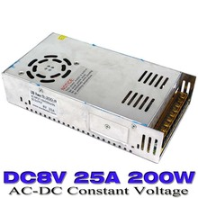Single Output Switching Power Supply 8V 25A 200W UPS Transformer 110V 220v AC To DC SMPD For LED Strip Display Light CNC MOTOR