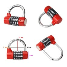Bright Color 5 Digit Dial Combination Code Number Lock Padlock For Luggage Zipper Bag Backpack Handbag Suitcase Drawer