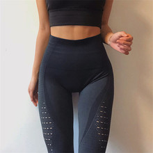 Buy Women Fitness Push Leggings High Waist Spandex Workout Legging Pants 2018 Fashion Female Seamless Hollow Leggings Femme for $13.59 in AliExpress store