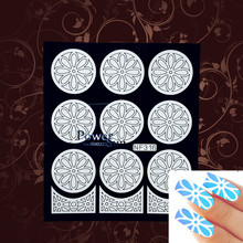 Beauty Nail Hollow Vinyls Sticker Flower Plate Pattern Nail Art Tool Manicures Polish Airbrush Nail Stencil Image Tips Guide(China)
