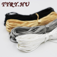TYRY.HU Satin Nylon Cord Rattail Silk Macrame Rope Kumihimo Shamballa For Diy Bracelet Necklace Jewelry Findings Accessories 10m(China)