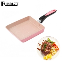 Runbazef Frigideira Egg Roll Sushi Steak Non Stick Frying Pan Gas and Electromagnetic Oven Kitchen Helper Free Shipping