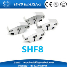 China Post Ordinary Shipping SHF8 8mm horizontal linear bearing shaft support 8mm Linear Shaft Support XYZ Table CNC SHF