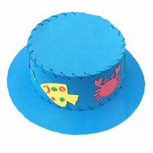 Kids Educational Craft Toy Kits Cute EVA Sewing Hat Puzzle Toy Handmade Kids Handcraft Sun Cap DIY Hat  Random Type