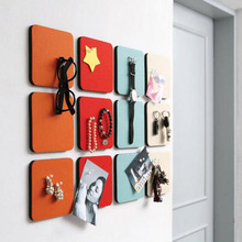 1pc Creative Multipurpose Felt Square Honeycomb Colorful Wall Stickers Decorative Sheet Mural