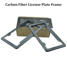 2 pcs Black License Plate Frames Caps Tag Cover Carbon Fiber Printed Style Plate Frame US Type high quality new arrival