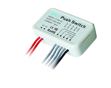2017 LTECH led Switch LT-424-U2 PC Plastic Shell led DALI Double Address Push Switch Powered by DALI Bus Small Size Max 8mA(China)