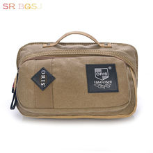 Free Shipping Vintage Men's Canvas Waist Pack Bum Belt Bag Purse Pocket Hip Pouch Fanny Bags