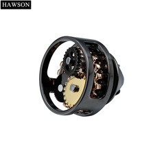 HAWSON Movement Mens Lapel Pins Black Gun Plated Watch Mechanical Brooches Pin