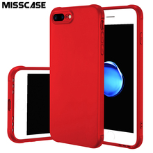 MISSCASE Sound Switching Phone Case For iPhone 6 6s 7 plus Cases Metallic Paint Matte TPU Soft Silicone Cover Case for iPhone 7(China)
