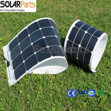 Solarparts 1*100W flexible solar panel PV module withe high efficiency sunpower solar cell panel solar light battery charger