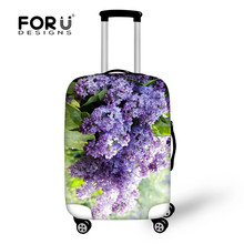 2017 Stylish Travel Accessories 20/22/24/26/28/28 inch Trolley Case Dust Cover 3D Floral Pattern Elastic Luggage Cover