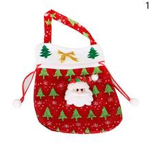 Christmas Candy Bag Christmas Gift Holders Santa Claus Holder Bags Kids Toys For Christmas Candy Bag Decoration CMS2815(China)