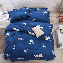 Sookie 3pcs Bedding Sets AU Queen Size Daisy Printed for Girls Boys Teen 1 Duvet Cover 2 Pillowcases Blue Bedroom Decor(China)