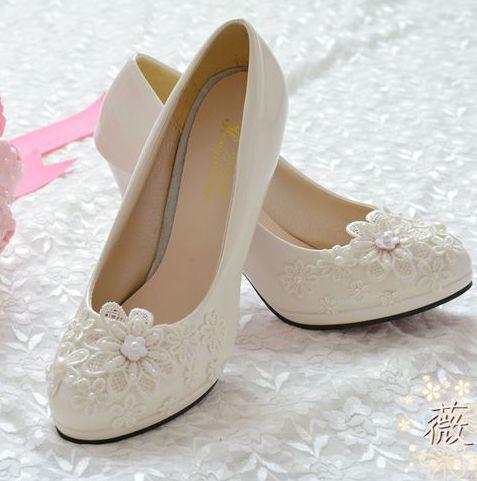 Quick shipping on sales 2017 womens wedding shoe white bridal pumps shoe custom make all heel XNA 079<br><br>Aliexpress