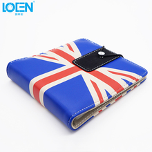 1PC UK US Flag style PU leather 20 dispc CD DVD Disk Card storage bag Case Holder Organizer for office home outdoor universal(China)