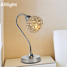 Luxury Crystal Fashion LED Table Lamp Metal Bedside Desk Light Lamp for Living Room Bedroom Study Reading Room Decor Fixtures