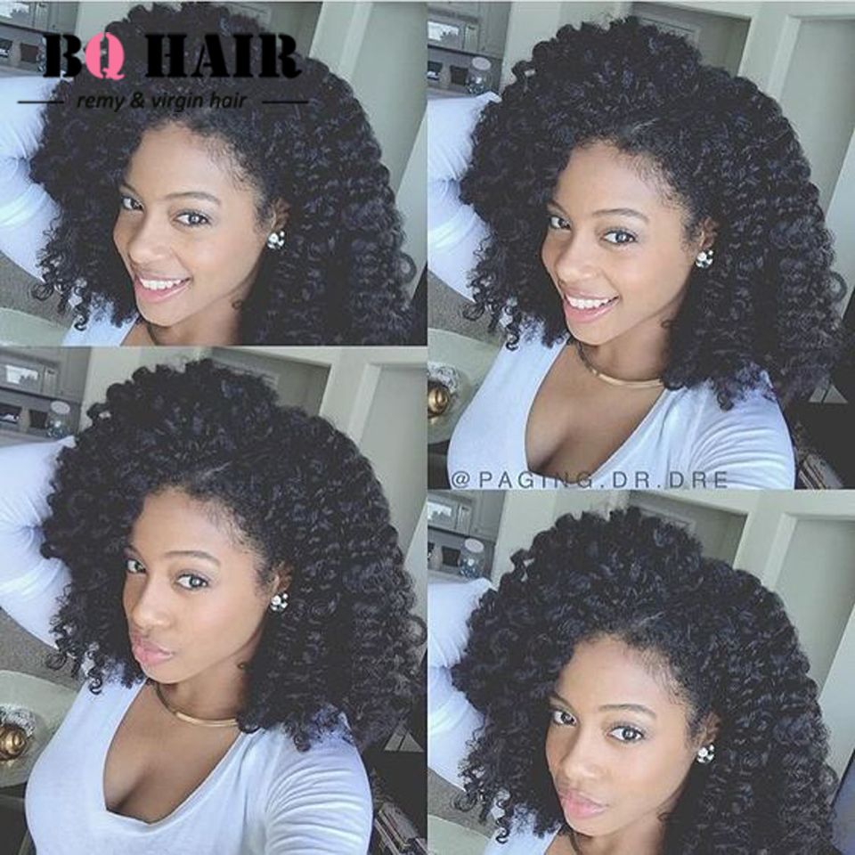 BQ Hair 8A Deep Wave Pre Plucked 360 Lace Frontal Weaving Closure With 3 pcs Human Hair Peruvian Remy Hair Bundles Tissage #1B<br><br>Aliexpress