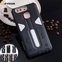 P9 NEW Hybrid TPU+PC Hard Plastic Armor Case For Huawei P9 HOT Slim Dual Color Rubber Dustproof plug Protect Phone Back Cover P9