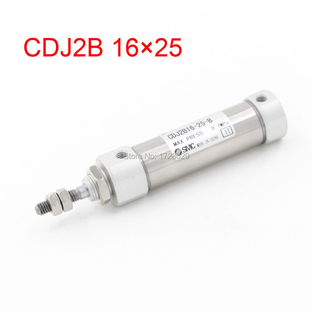 Pneumatic Component 16mm Bore 25mm Stroke CDJ2B 16*25 Pneumatic Air Cylinder<br><br>Aliexpress