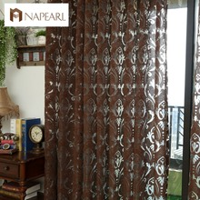 Window curtain kitchen door yarn curtains custom made curtains home textile window treatments modern curtain short kitchen(China)