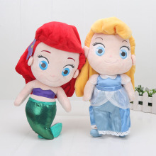 30cm plush doll Princess Doll Cinderella Plush Toy The Little Mermaid Stuffed Doll Soft Baby Toy Gift(China)