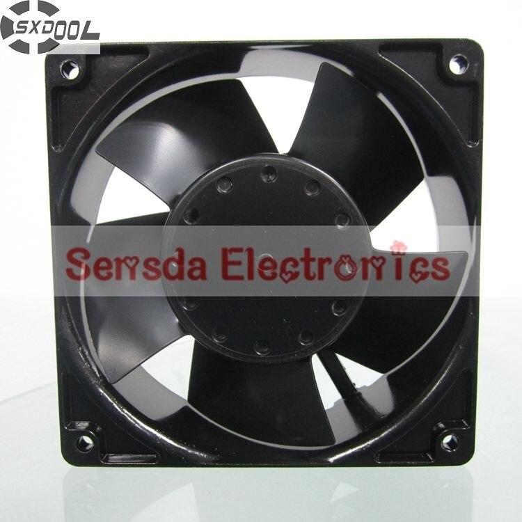 SXDOOL 4E-230B 12038 12cm 230V 22/21W metal frame industrial Thermostable fan<br>
