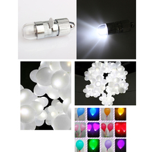 NEW 12x Paper Lanterns Balloons White LED Party Lights Floral Decoration light Sale(China)