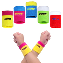 1PCS 3.3*3 inch Cotton Sport Sweatband Running Sweat Wrist Brace Support Tennis Wristband For Badminton Gym Yoga