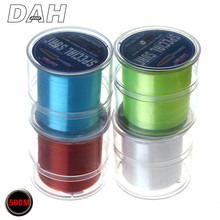 HOT SALE 500M Fluorocarbon Fishing Line 2-35LB test Carbon Fiber Leader Line 0.10-0.50mm fly fishing line pesca free shopping