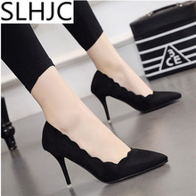 Buy SLHJC Thin Heel Shoes Classical High Heel Women Pointed Toe Party Wedding Shoes 8 cm Heel Pumps Summer Autumn Shoes for $13.94 in AliExpress store