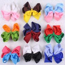 "DHL Free Shipping 108pcs/lot 3.5"" Two Tone Twisted Hair Bow Clip for Girls"