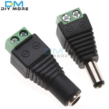 5Pair (5pcs female+5pcs male) Male Female 5.5 x 2.1mm DC Power 12V 24V Jack Adapter Connector Plug CCTV(China)