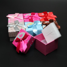24pcs/lot Jewelry Organizer Bowknot Heart Pattern Jewelry Box 6 Colors Gift Boxes Packaging Display Boxes 5*3.8cm/1.97*1.5""