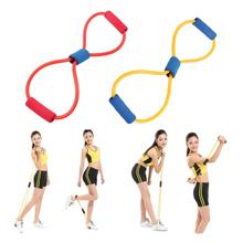 Yoga Pilates Resistance Band 8 Type Muscle Chest Expander Rope Pulling Exerciser Fitness Exercise Tube Sports Workout Cordages