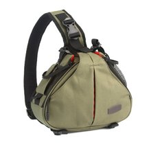 Caden K1 Waterproof Fashion Casual DSLR Camera Bag Case Messenger Shoulder Bag for Canon Nikon Sony Army Green