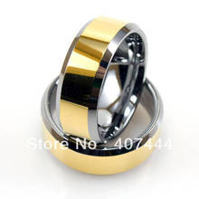 Free Shipping!Wholesales USA Hot Sales E&C Jewelry Men's Tungsten Two-Tone Ring With Hi-Polish Finish His/Her Best Wedding Ring(China)