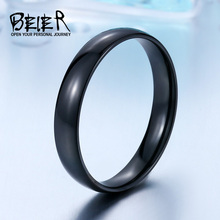 Beier 316L Stainless Steel Man's High Polished ring black/white popular men Fashion Jewelry BR-R051(China)