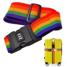 1Pcs New Minorder Rainbow Travel Luggage Suitcase Strap Secure Code Lock Colorful Packing Safe Belt Baggage Belt Helpful