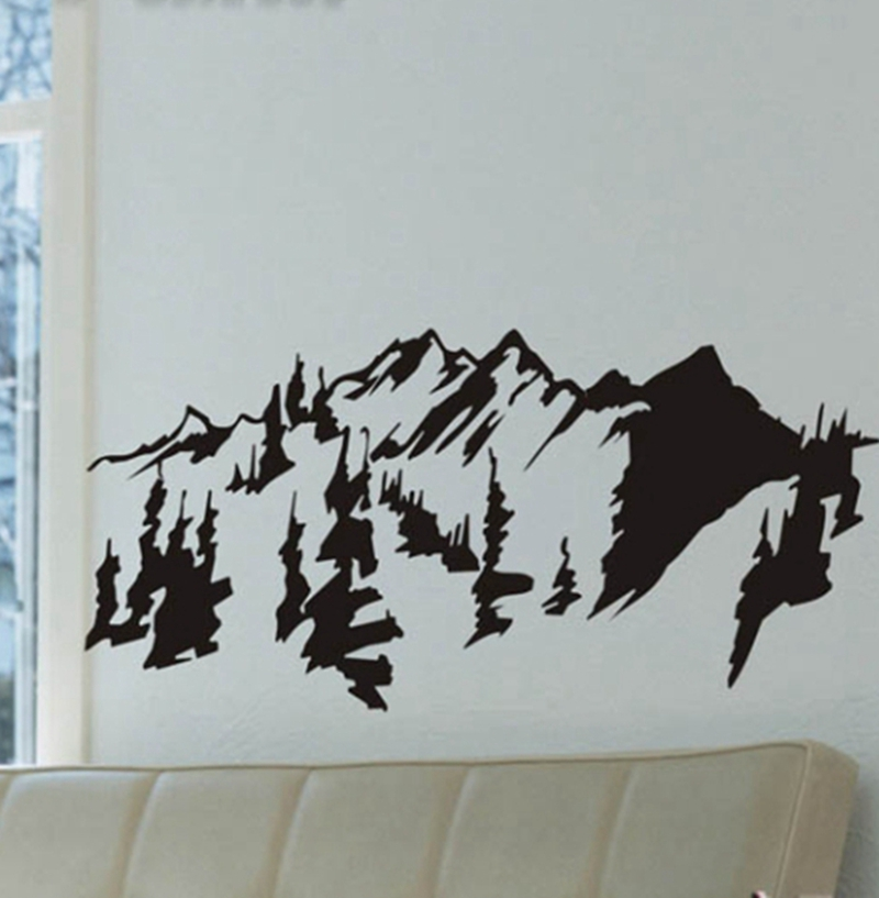 Wall Art Decal mountain sticker promotion-shop for promotional mountain sticker