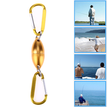 3.5kg Tension Aluminum Fishing Buckle Magnet Clasp Hanging  Wire Connector Fishing Accessories Lure Tool Glod Color