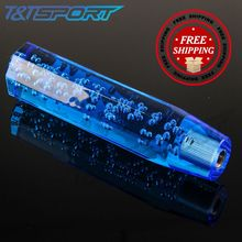 150MM Crystal Bubble Type Colorful Shift Knob With 3 Adapters M8*1.25 M10*1.25 M10*1.5