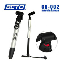 New BETO Aluminum Floor Type Mini Pump Bicycle Pump Mini Portable Cycling Mountain Road MTB Bike Bicycle Tire Inflator Air Pump